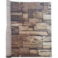 Jarolift Balkonbespannung Sichtschutz 500 x 90 cm - Steine Motiv - wasserabweisend