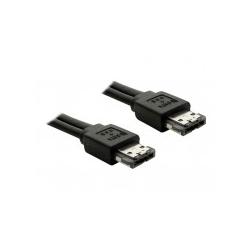 Delock Power Over eSATA cable eSATA-Kabel Serial ATA 150/300 eSATAp M bis M 1 m Schwarz (84386)