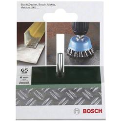 Bosch Accessories Topfbürste für Bohrmaschinen – Gezopfter Draht, 65mm Ø 65mm Stahldraht Schaft