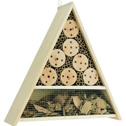 Insektenhotel MAISON - Dreieckiges Insektenhaus für Käfer und Bienen mit Bambus