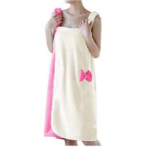 YJZQ Bademantel für Damen, Handtuch ohne Haarband, Duschbademantel, Bademantel, Frottee, schnelltrocknend, zum Baden der Sauna
