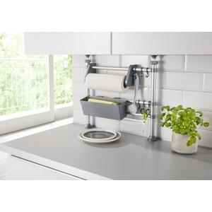 Ruco Küchenregal, Aluminium/Kunststoff, höhenverstellbar von 47-82 cm silberfarben Küchenregale Haushaltsgegale Regale Kleinmöbel Küchenregal