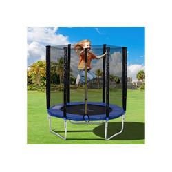 Masbekte Gartentrampolin, Ø 183,00 cm, (mit sicherheitsnetz), Outdoor-Trampolin mit Sicherheitszaun und Gepolsterte Stangen 6FT, tragend 80 kg