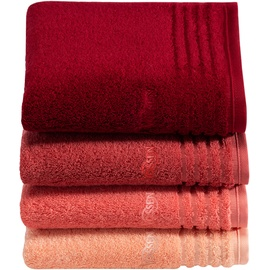 VOSSEN Vienna Style Supersoft Handtuch (2x50x100 cm) rubin