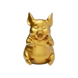 KARE Spardose Spardose Happy Pig Sitting Gold