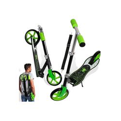 KESSER Cityrad, Scooter Roller Kinderroller Cityroller Tretroller Kickroller Kickscooter XXL Rollen 205mm ABEC7-Kugellager Tragegurt klappbar grün