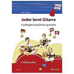 Jeder lernt Gitarre - Liedbegleitung leicht gemacht. Udo Zilkens  - Buch