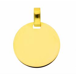 Adelia´s Kettenanhänger 333 Gold Gravurplatte Anhänger Ø 16 mm