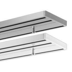 Gardinenschiene Schienensystem Objektschiene, 3-läufig, vorgebohrt, Gardineum, 3-läufig wei� 220 cm