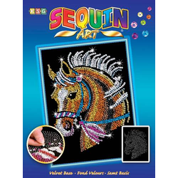 Sequin Art - Paillettenbild - Pferd 8041517