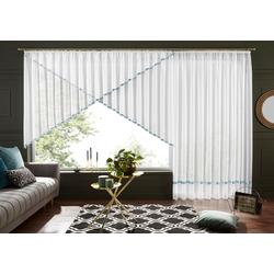 Kuvertstore Eby, my home, Kräuselband (1 Stück), Gardine, Fertiggardine, transparent grau 400 cm x 120 cm