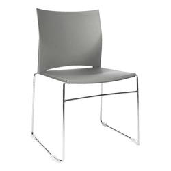4er-Set Stapelstühle »W-Chair« grau, Topstar, 45x45 cm