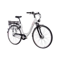 "CHRISSON, E-Bike City Damen E-LADY, 28 "", 7-Gang, 13.4 Ah weiß"