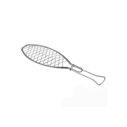 Neuetischkultur Grillguthalter Fischgrillzange EASY, Edelstahl, Fischgrillzange 15.5 cm