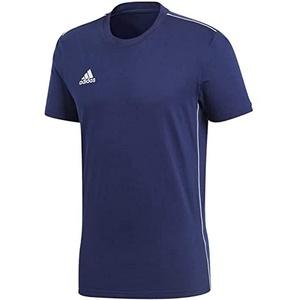 adidas Kinder Core 18 Tee T-Shirt, Dark Blue/White, 116
