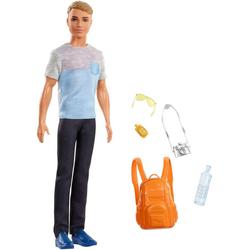 Barbie Anziehpuppe Ken Reise Puppe, blond mit Zubehör