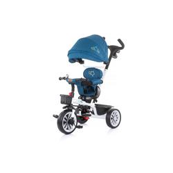 Chipolino Dreirad Dreirad Matrix 2 in 1, mit Sonnendach, Sitz umkehrbar, Korb, Radkappe blau