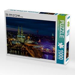 Köln - Blick vom Triangle Lege-Größe 64 x 48 cm Foto-Puzzle Bild von twfoto Puzzle