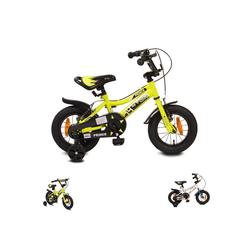Byox Kinderfahrrad Kinderfahrrad 12 Zoll Prince, 1 Gang 1 Gang, keine, sportliches Design, Stützräder, Kettenschutz grün
