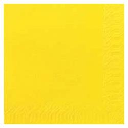 Duni Zelltuch Servietten 33x33 3lg 1/4 gelb - 4x250 Stück