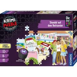 Kosmos Puzzle Krimipuzzle Die drei !!! Skandal auf dem Reitturnier, 200 Puzzleteile, Made in Germany