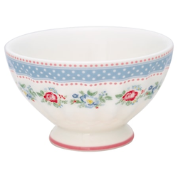 Greengate Evie French Bowl Mittelgroß Weiß