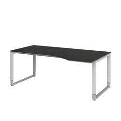 Computertisch in Grau höhenverstellbar