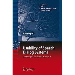 Usability of Speech Dialog Systems. Thomas Hempel  - Buch