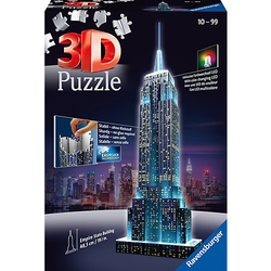 3D-Puzzle Night mit LED, H49 cm, 216 Teile, Empire State Building bei Nacht