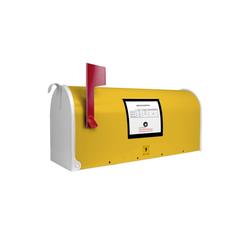 banjado Briefkasten Motiv Briefkasten Gelb