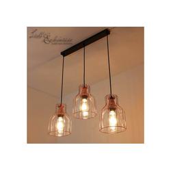 Licht-Erlebnisse Pendelleuchte ARIA Hängeleuchte Kupfer Glas Metall Esszimmer Pendelleuchte Lampe