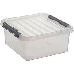 sunware Q-line Aufbewahrungsbox 18,0 l transparent 40,0 x 40,0 x 18,0 cm