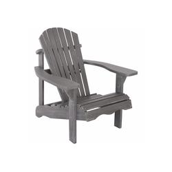 Raburg Gartenstuhl SUNJA Premium in ALT-GRAU - Akazie Hartholz, lackierter XXL Design-Gartenstuhl Canadian Adirondack Deck-Chair / Hamburger Alsterstuhl, belastbar bis 150 kg