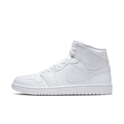 Air Jordan 1 Mid Schuh - Weiß, size: 50.5