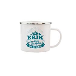 HTI-Living Becher Echter Kerl Emaille Becher Erik, Emaille