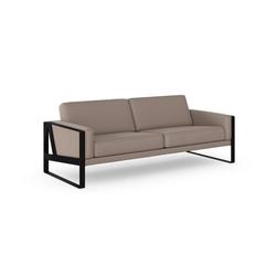 machalke® 3-Sitzer frame, Ledersofa mit Kufe in Schwarz grau