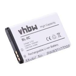 vhbw Li-Ion Akku 1200mAh (3.7V) für Handy Telefon Smartphone Avus C12, C22 wie Avus V2, MMDR 12.