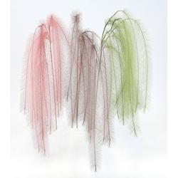 Kunstpflanze Federzweig, I.GE.A., Höhe 80 cm, 3er Set rosa