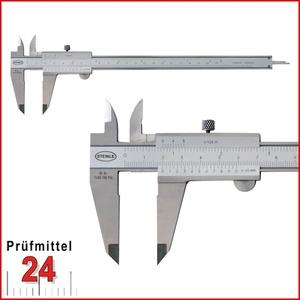 STEINLE 1102 Taschen Messschieber 150 mm mit Feststellschraube, Ablesung: 0,05 mm DIN862 - inkl. Gewindetabelle Aktionspreis gültig bis 31.01.2021