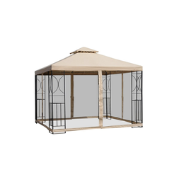 Outsunny Pavillon Metallpavillon mit Moskitonetz