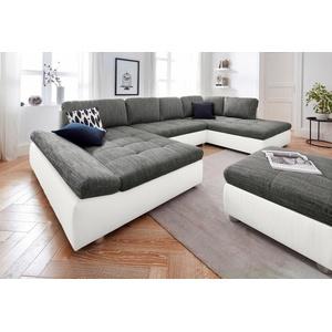 sit&more Wohnlandschaft Fabona, wahlweise mit Bettfunktion, Bettkasten und Armteilfunktion weiß 325 cm x 85 cm x 94 cm