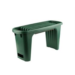 BigDean Bank Kniebank und Gartenbank + Polsterung − Pflanzhilfe für Ihren Garten
