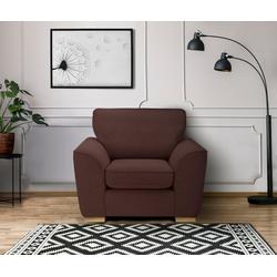 DELAVITA Sessel Savoy, gemütlicher Sessel,k in 2 Bezugsqualitäten rot