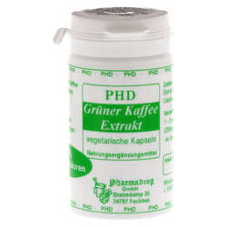 GRÜNER KAFFEE Extrakt Kapseln 50% Chlorogensäur. 60 Stück
