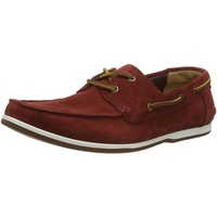 CLARKS Pickwell Sail Segelschuhe, Rot (Red Suede), 43