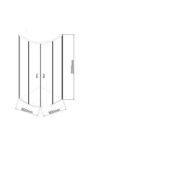 Marwell Eckdusche CITY, Schiebetür mit doppelten Leichtlaufrollen farblos Duschkabinen Duschen Bad Sanitär