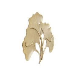 KARE Wanddekoobjekt Wandschmuck Ginkgo Gold Groß