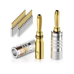 deleyCON deleyCON 24x Bananenstecker Schraubbar für Lautsprecherkabel von 0,75mm - 4mm PC-Lautsprecher