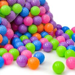 100 Bällebadbälle 6 cm Bunte Bälle für Bällebad Spielbälle Babybälle Pastell