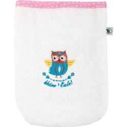 ADELHEID Waschlappen Kleine Eule Waschlappen (3-tlg), mit Paspel und Stickerei